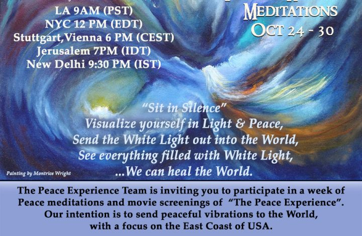 Peace Meditation Week Oct 24-30
