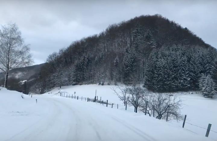 Relaxing Drive Through Winter Wonderland