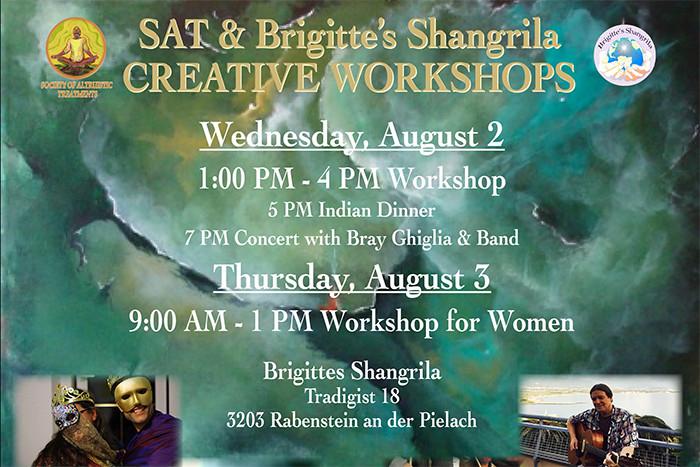August 2 & 3 — Creative Workshops Tradigist, Austria