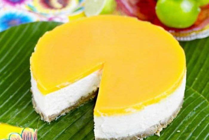 Raw Vegan Mango Cheese Cake
