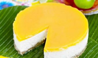 Raw Vegan Mango Cheese Cake