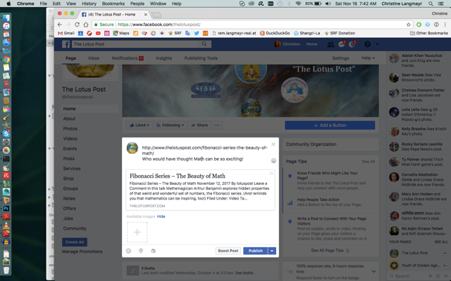 How to Publish your Post on Facebook